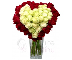Bouquet of roses in heart shape
